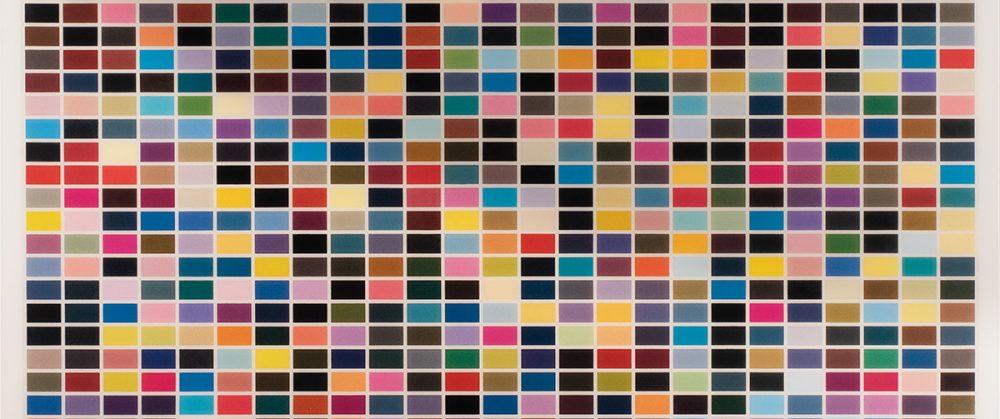 Bildausschnitt aus einer Edition von Gerhard Richter: 1024 Farben, Foto: Bernd Zöllner