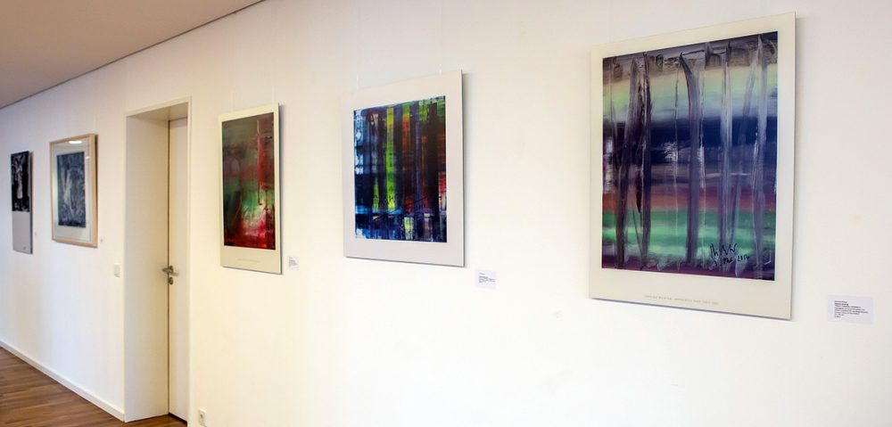 Gerhard Richter Editionen ausgestellt bei CMS Hasche Sigle im Kranhaus 1 im Kölner Rheinauhafen, Oktober bis Dezember 2018, Foto: Anatoliy Stepanko