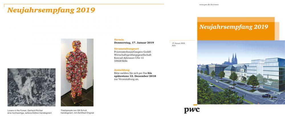Neujahrsempfang bei PricewaterhouseCoopers GmbH Wirtschaftsprüfungsgesellschaft, Köln