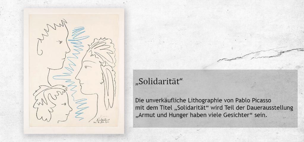 """Signierte Lithographie von Pablo Picasso: """"Solidarität"""", Foto: Bernd Zöllner"""
