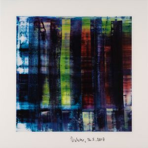 Gerhard Richter, Abstract Painting (blau), Edition, Farboffsetdruck, signiert 15.5.2017