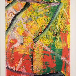 Gerhard Richter, Donaueschingen II, Edition, Farboffsetdruck Künstlerplakat, 1983