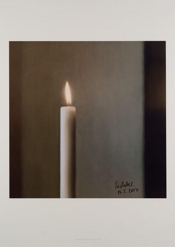 Gerhard Richter, Kerze, 2012, Edition, Farboffsetdruck, signiert 15.5.2017