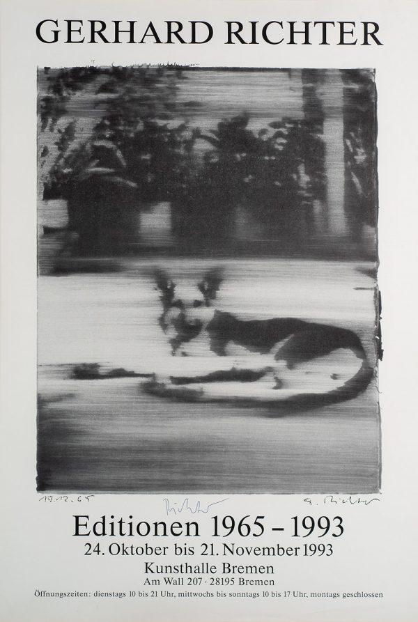 Gerhard Richter, Hund, Edition, Farboffsetdruck