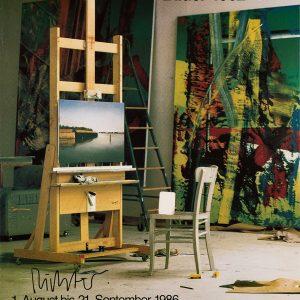 Gerhard Richter, signiertes Ausstellungsplakat, Gerhard Richter, Bilder 1962–1985, Museum des 20. Jahrhunderts, Wien, 1986