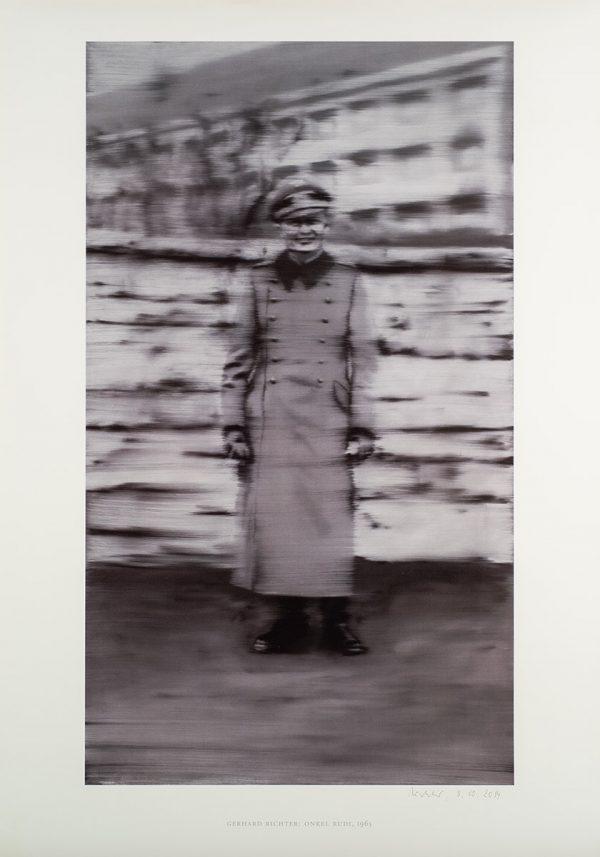 Gerhard Richter: Onkel Rudi, Edition, Schwarz-Weiß-Offsetdruck, signiert 3.10.1914