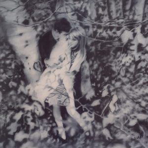 Gerhard Richter, Lovers in the Forrest, Edition, Schwarz-Weiß-Offsetdruck, 1995