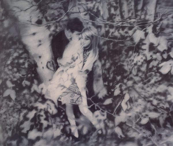 Gerhard Richter, Lovers in the Forrest, Edition, Schwarz-Weiß-Offsetdruck, 1995