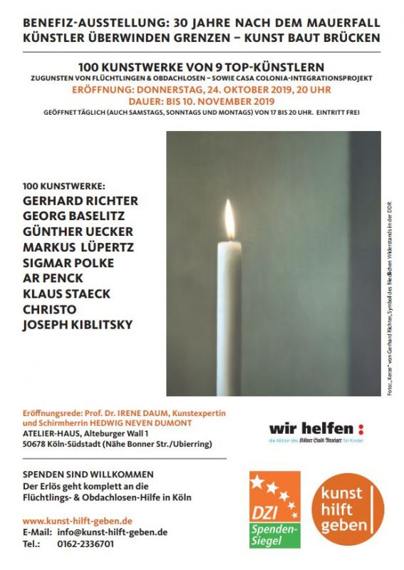 """Foto: """"Kerze"""" von Gerhard Richter, Symbol des friedlichen Widerstands in der DDR"""